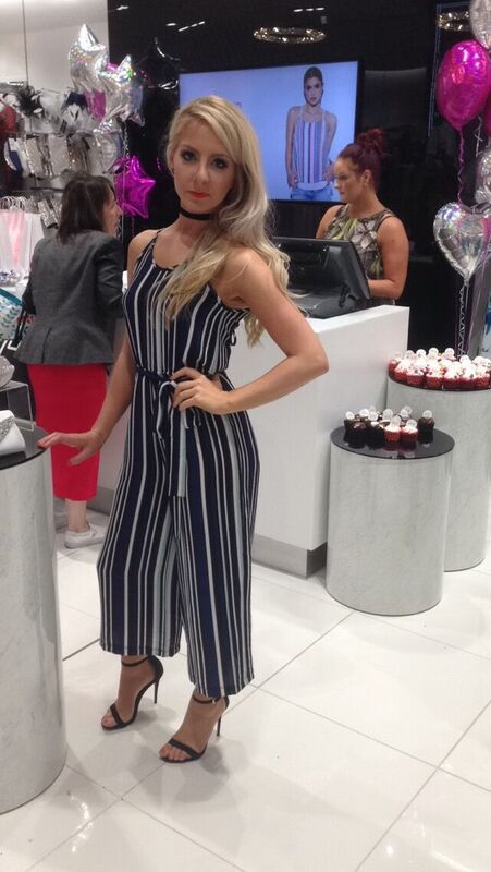 ddd858e1ac2f Carrie from QUIZ HQ owning our striped jumpsuit – shop it HERE